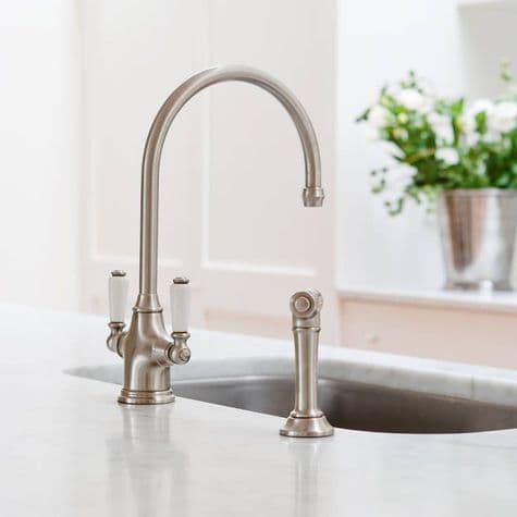 4360 Perrin & Rowe Phoenician Monobloc Mixer Tap and Rinse